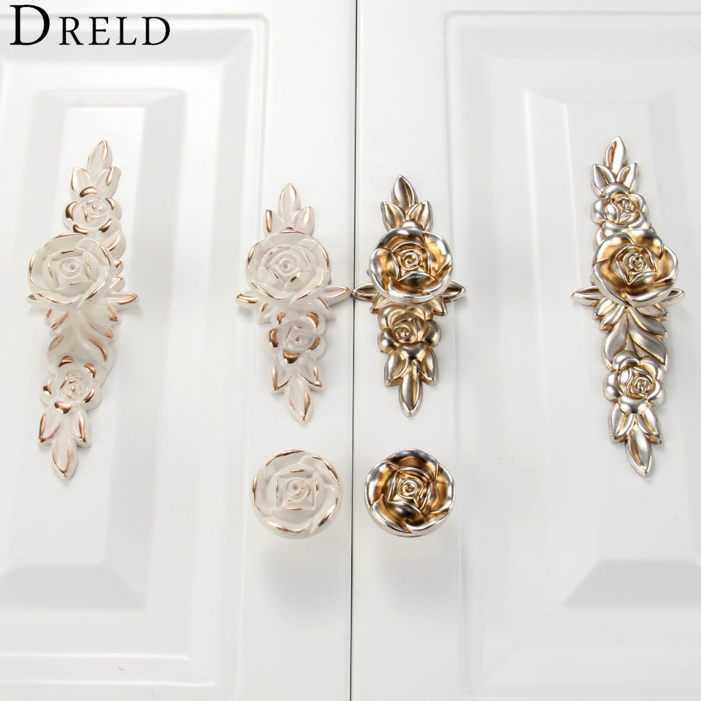 Furniture Handles Rose Wardrobe Door Pulls Dresser Drawer Kitchen Cupboard Handle Cabinet Knobs and Handles Furniture Hardware luxury gold czech crystal round cabinet door knobs and handles furnitures cupboard wardrobe drawer pull handle