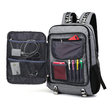 купить New Men Fashion Multifunctional Oxford Casual Laptop Backpack School USB Charge Waterproof Male Business Travel Bag Back Pack по цене 1364.8 рублей