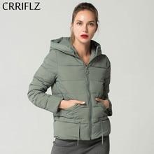 Модные тонкие короткие с капюшоном женские пальто теплые женские зимние куртки и пальто женские парки CRRIFLZ 2019 новая зимняя коллекция