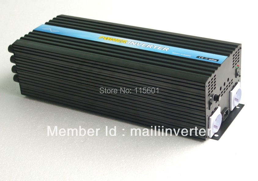 CE&RoHS Approved <font><b>5000w</b></font>/5kw <font><b>Panel</b></font> Inverter <font><b>Solar</b></font> Input dc12v/24v/48v Output 100v~240vac, Factory Sell image