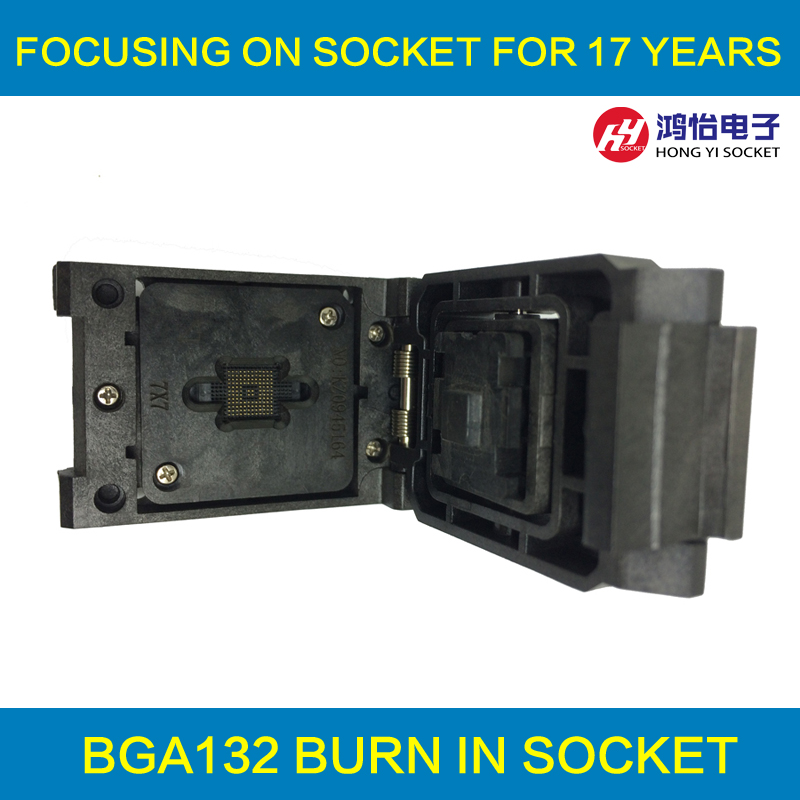 Customized UFBGA132 Burn in Socket IC Size 7x7mm Pin Pitch 0.5mm Clamshell 5-7 days for Customizing qfn64 mlf64 burn in socket ic test socket ic550 0644 006 g pitch 0 5mm chip size 9 9 flash adapter clamshell programming socket