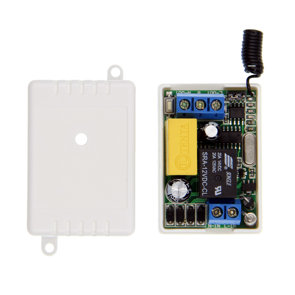 Mini Size AC 220V 1CH 1CH 10A Wireless Remote Control LED Light Switch Relay Receiver ,315/433 MHz ac 220v 1ch remote switch wall lamp ceiling light led bulb wireless remote control switch 433 315 mhz smart home rf receiver