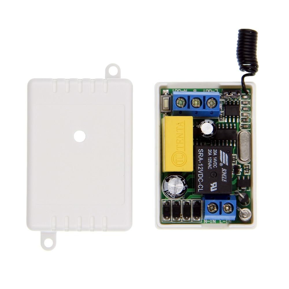 Mini Size AC 220V 1CH 1CH 10A Wireless Remote Control LED Light Switch Relay Receiver ,315/433 MHzMini Size AC 220V 1CH 1CH 10A Wireless Remote Control LED Light Switch Relay Receiver ,315/433 MHz