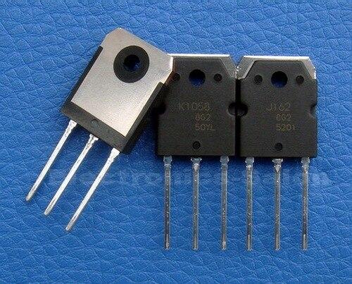 (12 ピース/ロット) 2SJ162 & 2SK1058 オリジナル MOSFET J162 K1058.