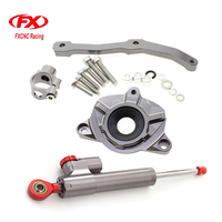 FXCNC Aluminum Motorcycles Steering Stabilize Damper Bracket Mount Kit For Kawasaki Z1000 2010 2013 2011 2012