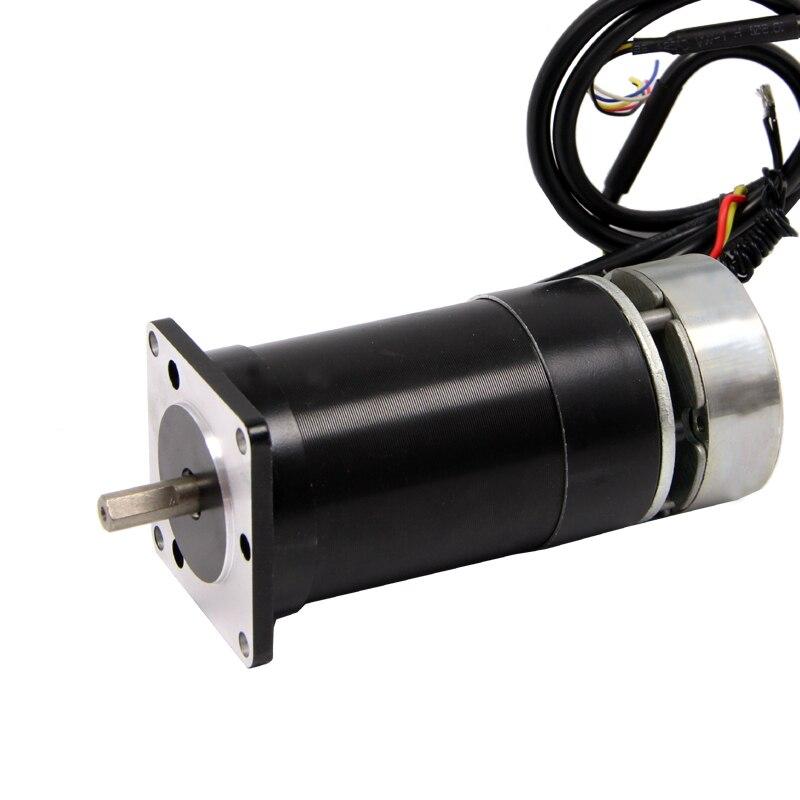 Nema23 DC Brushless Motor with Brake 24V 200W 3000 rpm High Torque