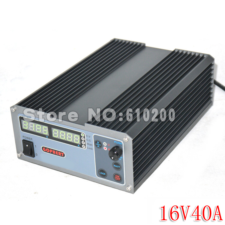 CPS-1640 New upgrade Compact Digital Adjustable DC Power Supply OVP/OCP/OTP MCU Active PFC 16V40A 170V-264V + EU + Cable cps 6003 60v 3a dc high precision compact digital adjustable switching power supply ovp ocp otp low power 110v 220v