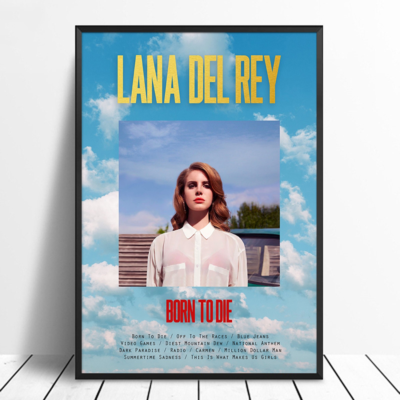 Lana Del Rey Born To Die Lana Del Rey Album Pop Music Cover Music Star Poster Canvas Prints Wall Art For Living Room Home Decor Painting Calligraphy Aliexpress