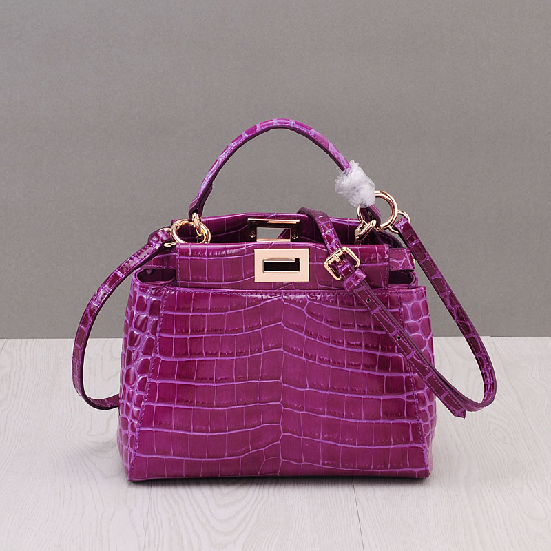 2017 Mini Luxury Handbags Women Bags Designer Alligator Split Leather Flap Bags Handbags Women Famous Brands Shoulder Bags ...