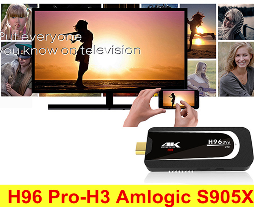 Origianal H96 Pro H3 Amlogic S905X TV Dongle Android 7.1 TV Box 2GB RAM 16GB ROM 5G WiFi Bluetooth 4.0 Wireless Set Top Box pvt 898 5g 2 4g car wifi display dongle receiver airplay mirroring miracast dlna airsharing full hd 1080p hdmi tv sticks 3251