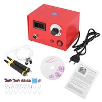 AC 220V 50W Wood Burning Crafts Tools Digital Display Pyrography Pen Machine Kit Set EU Plug