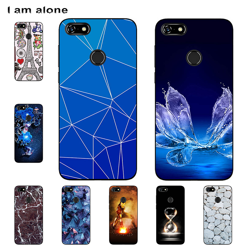 I am alone Phone Bags For Lenovo A5 5.45 inch Solf TPU Fashion Cute Color Paint Mobile Cases For Lenovo A5 Shell Shipping Free image