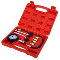 8pcs Set Petrol Gas Engine Cylinder Compressor Gauge Meter Test Pressure Compression Tester Diagnostic Kit Retail