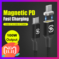 SIKAI Magnetic Charging Cable 100W PD Fast Charge USB C Type C Cable for Macbook Pro Laptop Mobile Phone reversible Mag Cable