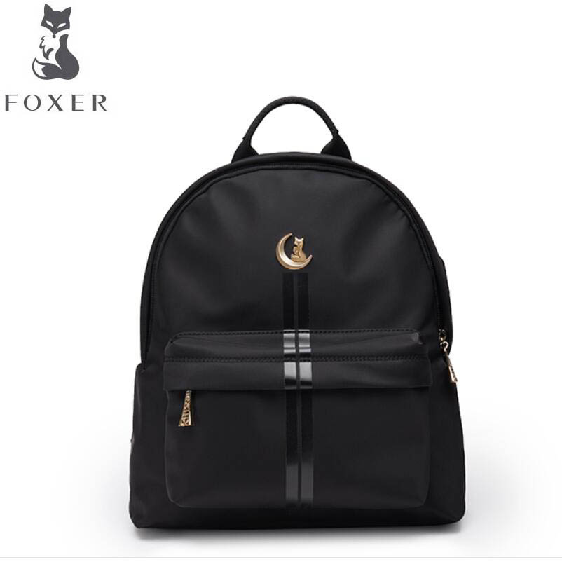FOXER2018 high-quality fashion luxury brand new shoulder bag business nylon Oxford cloth high school students bag leisure travel eddie ran 17 inch backpack male nylon bag business men laptop bag bag leisure travel high school students high grade school bag