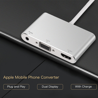 Good Quality Cable Adapter For IPhone X 7 8 Plus HDMI VGA 3 5mm Audio Lightning
