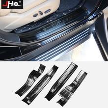 JHO стальная Накладка на порог для Ford Explorer 2011- 18 13 14 15 16 17 шаг потертости царапин защитная крышка автомобильные аксессуары