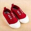 2017 Малышей Девушки Холст Обувь Для Повседневная Поскользнуться на Холст Детские Впервые Walkers Детская Обувь Размер 5-12