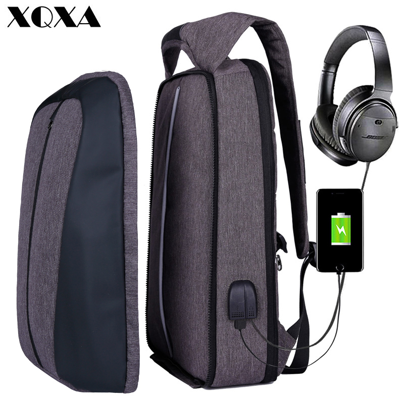 XQXA Laptop Backpack Men Anti-theft Water Resistant Patchwork Business Backpack with USB Charging Port School Bags for Colleges цены