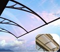 "YP100300 100x300cm 39""x118"" garden shade door canopy polycarbonate awning with decorative window awning sun awning"