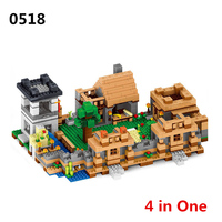 1221pcs/set Minecraft Toys Action Figures My World Neverland Ranch Model Minecraft Building Blocks Plastic Toys For Children #E