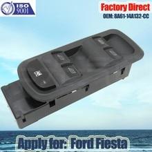 Aplicar para ford fiesta 8a61-14a132-cc esquerda motorista lado mestre interruptor da janela de energia automática