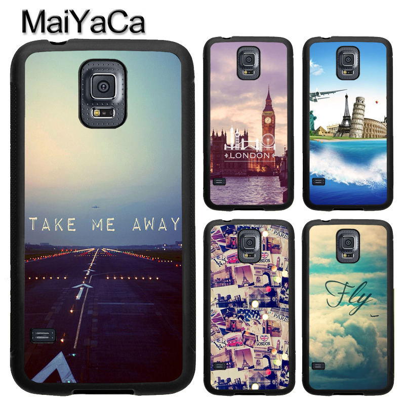 MaiYaCa Travel in the world London Phone Case For Samsung Galaxy S9 S8 Plus S4 S5 S6 S7 edge Note 8 5 4 TPU Cover Skin Shell