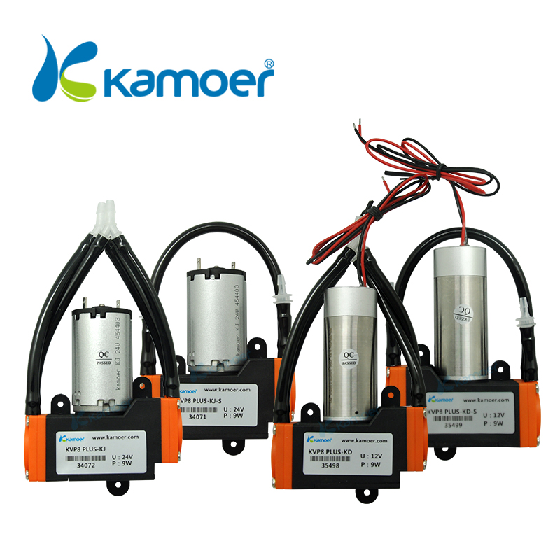Kamoer 12V/24V KVP8 PLUS DC Vacuum Pump (Brushed/Brushless DC Motor, 12V/24V DC Air Pump, High Pressure, KVP8 UPDATE) micro diaphragm vacuum pump with dc motor mini air pump 12v 24v with high nagative pressure vacuum degree r kamoer kvp8 plus
