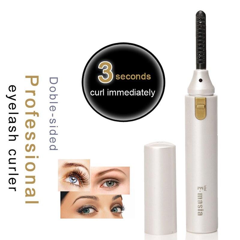 Electric Heated Eyelash Curler Double Sided Long Lasting Iron Eyelash Curly Lash Beauty Makeup Tool HJL2018