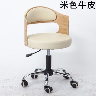 Луи Модные Офисные стулья из цельной древесины подъемная маленькая Квартира Компьютер современный минималистский студенческий обучающий стол Небольшой Поворотный - Цвет: G7