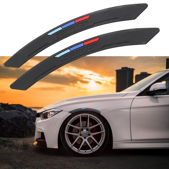 Universal Sport Wheel Eyebrow Arch Lips Fender Guard Protector Car Strips Trim fit for BMW 2pcs/set