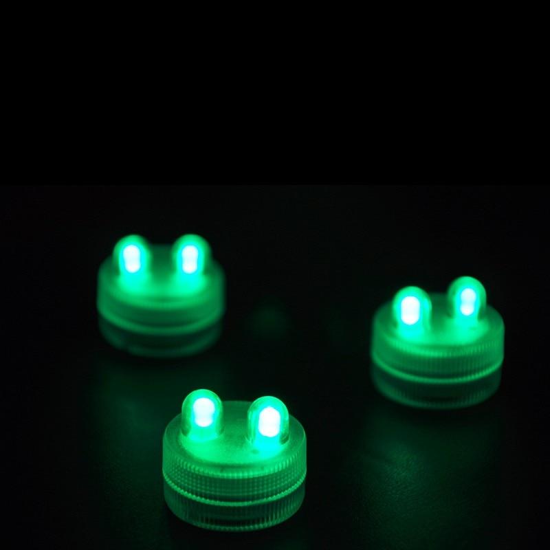 Lights & Lighting Factory Vendor 100 Frost Light 2pcs Cr 2032 Batteries Operated Submersible Floralyte Led Tea Light For Wedding