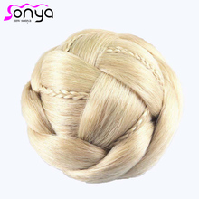 2016 New Braid Women Hair Chignon Hair Sticks Novelty Synthetic Hair Buns Extension HA026