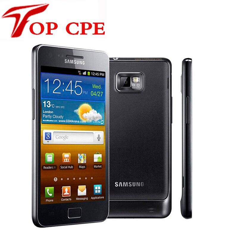Цена за Оригинальный разблокирована samsung galaxy s2 i9100 мобильный телефон ес версия wi fi Android 8.0MP 4.3 ''1 ГБ ОЗУ + 16 Г Rom восстановленное телефон