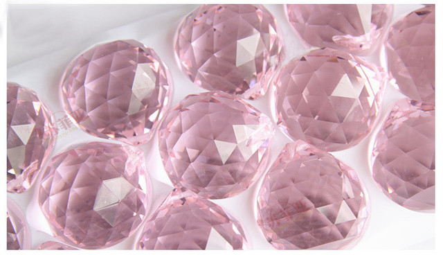 Top quality 10pcslot 20mm pink chandelier glass crystals lamp top quality 10pcslot 20mm pink chandelier glass crystals lamp prisms parts ball mozeypictures Choice Image