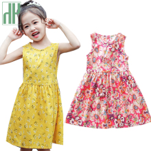 Kids Girls Summer Dress Sleeveless Floral Print A-line Toddler Girl Dresses Cute Party Princess Costume Dresses Children Clothes