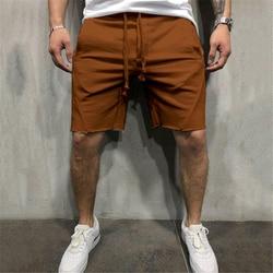 Мужские хлопковые шорты, мужские короткие свободные брюки для фитнеса, бодибилдинга, бега, мужские брендовые прочные спортивные штаны, шорт...