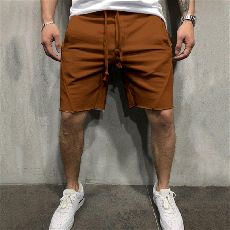 Men Cotton Shorts Men's Loose Short Trousers Fitness Bodybuilding Jogger Mens Brand Durable Sweatpants Fitness Workout Short