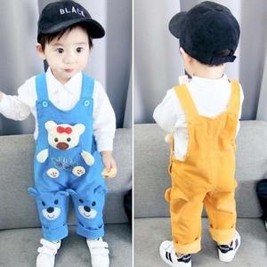 Image 2 - Pantaloni per neonati appena nati jeans carini in cotone per bambini bretelle per bambini pantaloni in denim 0 4T (baby outwear ragazzi ragazze pantaloni
