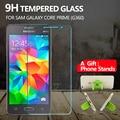 Protector de pantalla de cristal templado de cine para samsung galaxy core prime g360 9 h resistente a los arañazos película protectora para g360 + 1 * stands