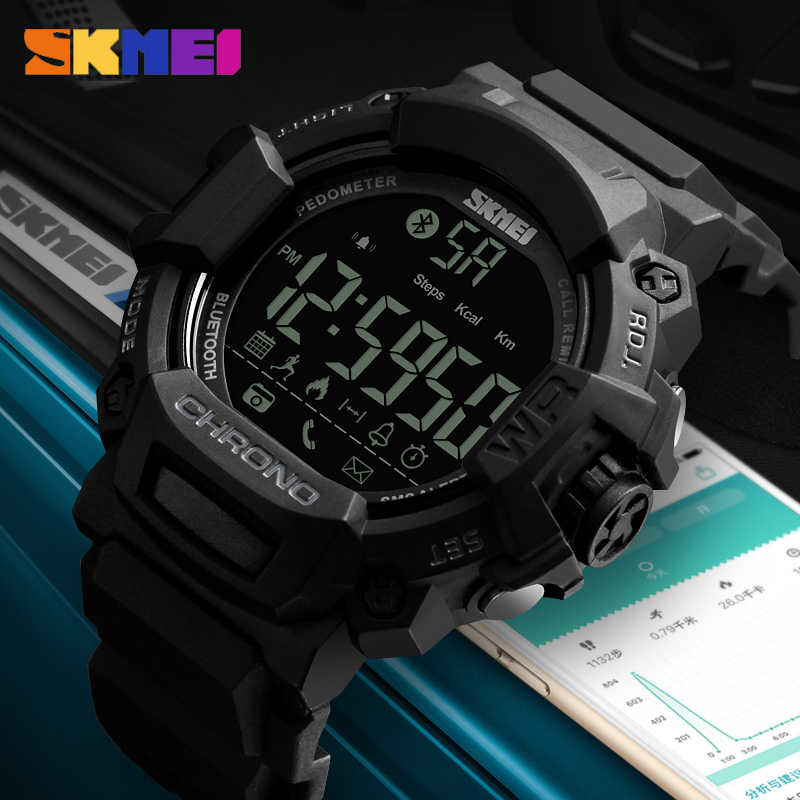 SKMEI Men Sport Smart Watch Multi-Functions Bluetooth Waterproof Outdoor Calorie Digital Men's Smartwatches Top Brand Male Clock