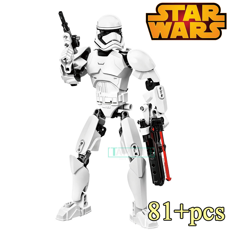 Building Blocks Toy KSZ 605-2 Stormtrooper Star Wars Buildable Action Figure Model Kids DIY Educational Bricks Toys for Children single sale star wars classic stormtrooper with blaster gun building blocks action sets model bricks toys for children