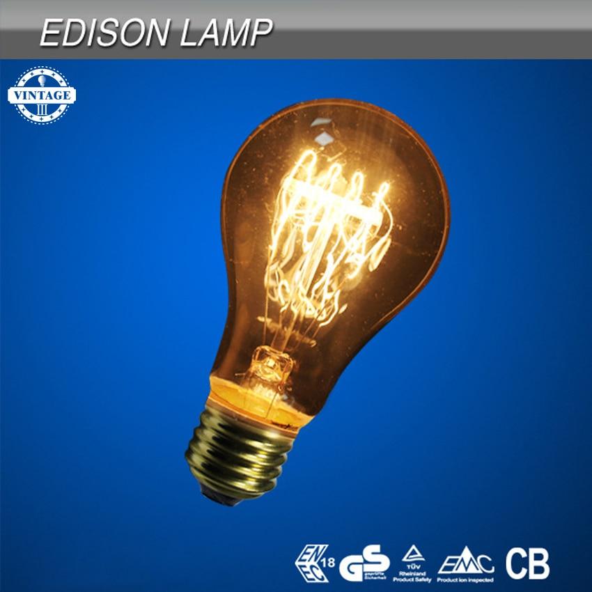 Lightinbox Vintage screw light bulb quad loop filament Incandescent Retro old fashioned Edison Style Lamp