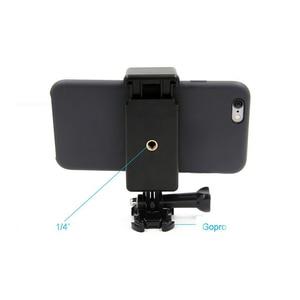 Image 3 - Przenośna czarna kamera akcesoria regulowany uchwyt z 1/4 otwór na śrubę stojak na telefon uchwyt klip statyw Adapter do GoPro