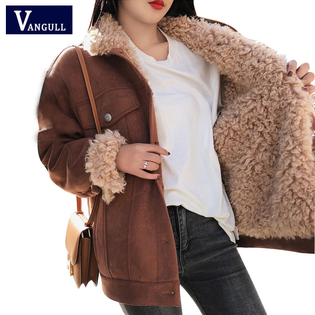 Winter Jacket Thick Fur Wool Liner Coats Women Parkas Fashion Faux