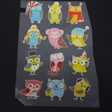 Owls Stencil Rhinestones Accessories For Clothing Heat Transfer Rhinestones For T shirt Print Flatback Cloth Art Decoration octopus stencil rhinestones accessories for clothing heat transfer rhinestones for t shirt print flatback cloth art decoration