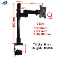 360 Degree Single Arm Adjustable Monitor Desktop Stand LCD LED Arm Monitor Desk Mount Stand Bracket for 14 25 Screens