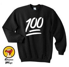 100 Emoji Funny Twitter Tumblr Gift Funny Men's Womens Unisex Top Crewneck Sweatshirt Unisex More Colors XS - 2XL цены