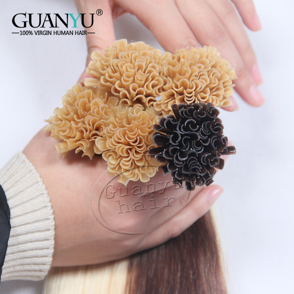 9A Brazilian Virgin Remy Fusion Hair Extensions, U Tip Hair Extensions, Brazilian Remy Human Hair Keratin Hair Extension