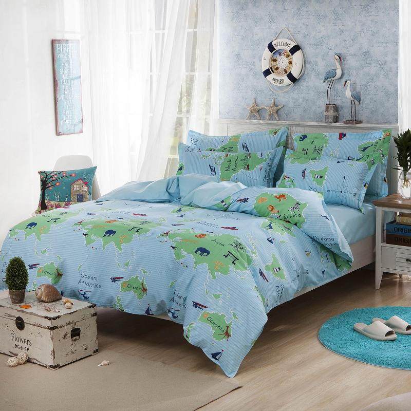 bedding sets full size Picture More Detailed Picture about turquoise world